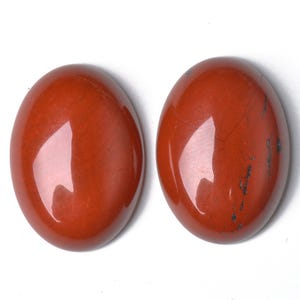 Red Smooth Jasper 30mm x 40mm Calibrated Oval Cabochon Pack Of 1 CA16636-8