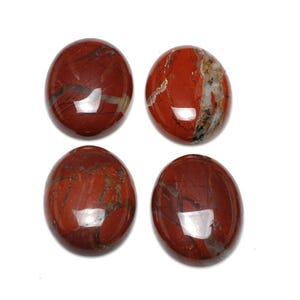 Red/Brown Smooth Poppy Jasper 13mm x 18mm Calibrated Oval Cabochons Pack Of 2 CA16643-4