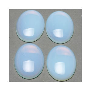Clear Smooth Opalite 13mm x 18mm Calibrated Oval Cabochons Pack Of 2 CA16644-4
