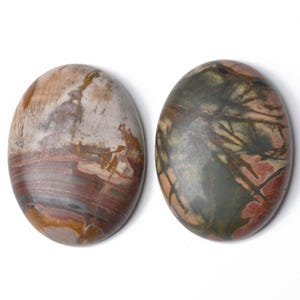 Multicolour Smooth Picasso Jasper 30mm x 40mm Calibrated Oval Cabochon Pack Of 1 CA16659-8