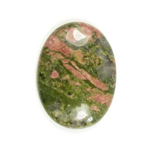 Green/Orange Smooth Unakite 18mm x 25mm Calibrated Oval Cabochon Pack Of 1 CA16660-6