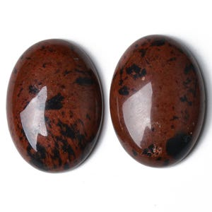 Brown Smooth Mahogany Obsidian 18mm x 25mm Calibrated Oval Cabochon Pack Of 1 CA16661-6