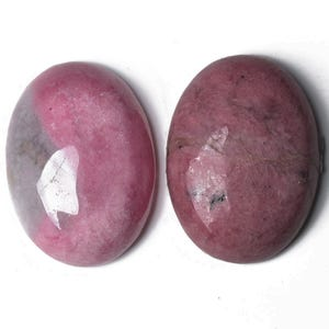 Pink Smooth Rhodonite 18mm x 25mm Calibrated Oval Cabochon Pack Of 1 CA16662-6