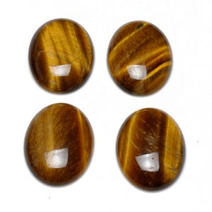 Yellow/Brown Smooth Tiger Eye 18mm x 25mm Calibrated Oval Cabochon Pack Of 1 CA16663-6