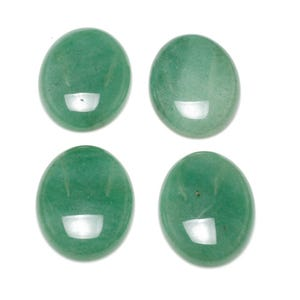 Green Smooth Aventurine 13mm x 18mm Calibrated Oval Cabochons Pack Of 2 CA16664-4