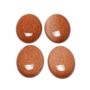 Brown Smooth Goldstone 18mm x 25mm Calibrated Oval Cabochon Pack Of 1 CA16666-6