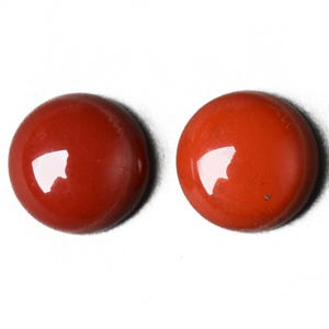 Red Smooth Jasper 12mm Calibrated Coin Cabochons Pack Of 3 CA16669-3