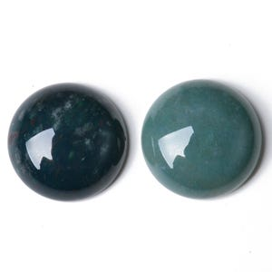 Multicolour Smooth Fancy Jasper 16mm Calibrated Coin Cabochons Pack Of 2 CA16680-5