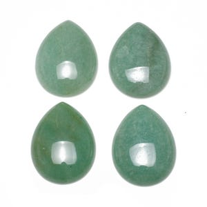 Green Smooth Aventurine 18mm x 25mm Calibrated Drop Cabochon Pack Of 1 CA16809-6