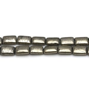 Pale Gold Pyrite Grade A Rectangle Beads 10mm x 14mm Strand Of 25+ Pieces CB26119-2