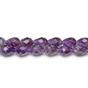 Purple Amethyst Grade A Faceted Briolette Beads 7mm x 10mm Pack Of 6 CB27068