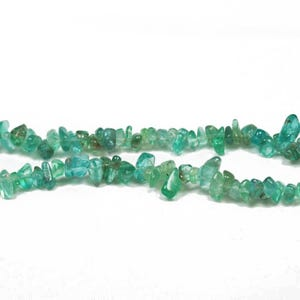 Turquoise Apatite Grade A Chip Beads 3mm-5mm Strand Of 125+ Pieces CB27243