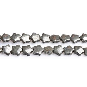 Pale Gold Pyrite Grade A Star Beads 10mm Strand Of 45+ Pieces CB27705