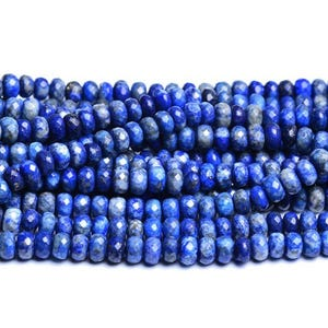 Blue Dyed Lapis Lazuli Grade A Faceted Rondelle Beads 5mm x 8mm Strand Of 70+ Pieces CB31056