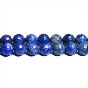 Blue Dyed Lapis Lazuli Grade A Faceted Round Beads 4mm Strand Of 90+ Pieces CB31095-1