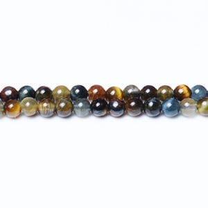 Blue/Brown Tiger Eye Grade A Plain Round Beads 3mm Strand Of 120+ Pieces CB31295-2
