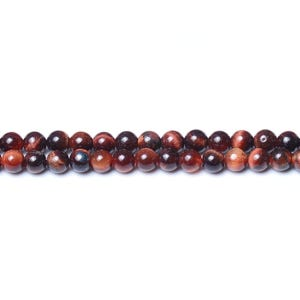 Red/Brown Tiger Eye Grade A Plain Round Beads 3mm Strand Of 120+ Pieces CB31299-2