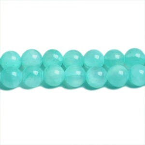 Turquoise Mashan Jade Grade A Plain Round Beads 8mm Strand Of 45+ Pieces CB31420-3