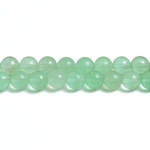 Green Fluorite Grade A Plain Round Beads 6mm Strand Of 64+ Pieces CB32003-2