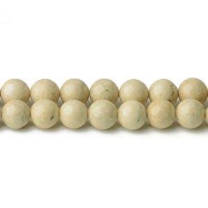 Cream Riverstone Grade A Plain Round Beads 4mm Strand Of 95+ Pieces CB34075-1