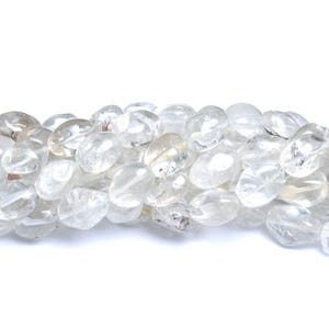 Clear Rock Crystal Grade A Smooth Nugget Beads Approx 11x15mm-12x20mm Strand Of 22+ Pieces CB37645-1