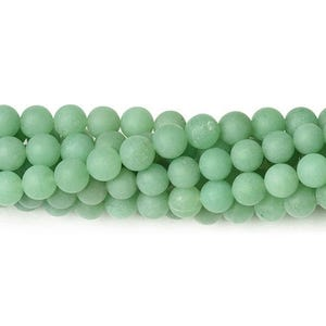 Green Frosted Aventurine Grade A Plain Round Beads 8mm Strand Of 40+ Pieces CB38435-2