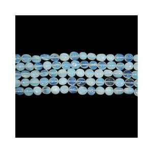 Clear Opalite Smooth Nugget Beads Approx 8x10mm-10x13mm Strand Of 32+ Pieces CB40183