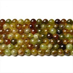 Green/Brown Garnet Grade A Plain Round Beads 4mm Strand Of 90+ Pieces CB42293-1
