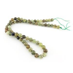 Green/Brown Garnet Grade A Plain Round Beads 5mm-6mm Strand Of 65+ Pieces CB42293-2