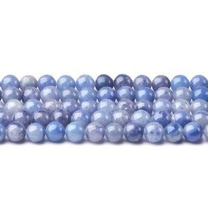 Blue Aventurine Grade A Plain Round Beads 6mm Strand Of 60+ Pieces CB43406-2