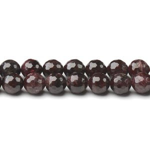 Dark Red Garnet Grade A Faceted Round Beads 6mm Strand Of 60+ Pieces CB44588-2