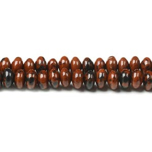 Brown/Black Mahogany Obsidian Grade A Plain Rondelle Beads 4mm x 6mm Strand Of 100+ Pieces CB45668