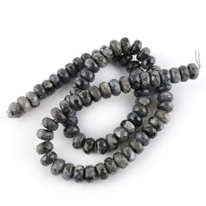 Grey Larvikite Grade A Faceted Rondelle Beads 5mm x 8mm Strand Of 70+ Pieces CB48957-3