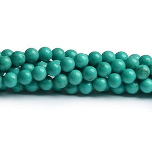 Turquoise Magnesite Grade A Plain Round Beads 6mm Strand Of 60+ Pieces CB49408-2