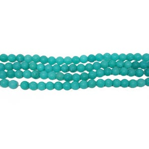 Turquoise Frosted Malaysian Jade Grade A Plain Round Beads 10mm Strand Of 32+ Pieces CB50297-3