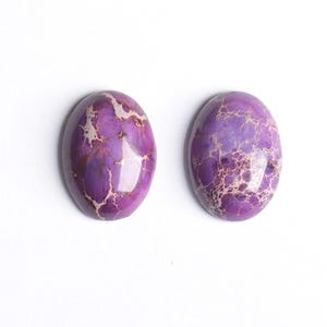 Purple Smooth Impression Jasper 18mm x 25mm Calibrated Oval Cabochon Pack Of 1 CB50470-1