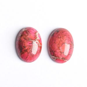 Pink Smooth Impression Jasper 18mm x 25mm Calibrated Oval Cabochon Pack Of 1 CB50471-1