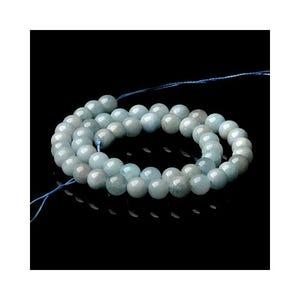 Blue Aquamarine Grade A Plain Round Beads 4mm Strand Of 90+ Pieces CB50998-1