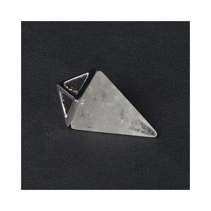 Clear Rock Crystal Pyramid Pendant 15mm x 32mm  CB52295
