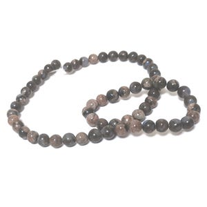 Blue/Brown African Opal Grade A Plain Round Beads 6mm Strand Of 60+ Pieces CB53998-1