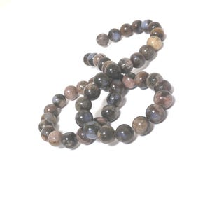Blue/Brown African Opal Grade A Plain Round Beads 8mm Strand Of 45+ Pieces CB53998-2
