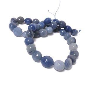 Blue Aventurine Grade A Smooth Nugget Beads 10x11mm-11x13mm Strand Of 28+ Pieces CB59835