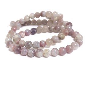 Lilac Quartz Grade A Plain Round Beads 6mm Strand Of 60+ Pieces CB59967-1