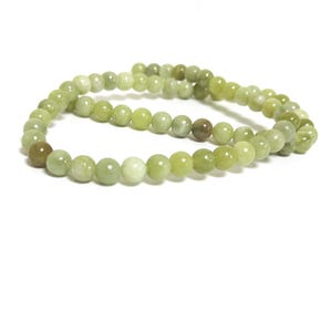 Green Healerite Grade A Plain Round Beads 6mm Strand Of 60+ Pieces CB64649-2