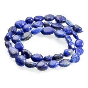 Blue Lapis Lazuli Grade A Smooth Nugget Beads 7x7mm-8x10mm Strand Of 45+ Pieces CB65913