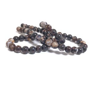 Brown Fire Agate Grade A Plain Round Beads 6mm Strand Of 60+ Pieces CB74217-1