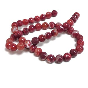 Dark Red Fire Agate Grade A Plain Round Beads 8mm Strand Of 45+ Pieces CB74218-2