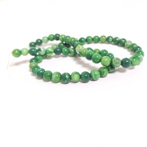 Green Fire Agate Grade A Plain Round Beads 6mm Strand Of 60+ Pieces CB74220-1