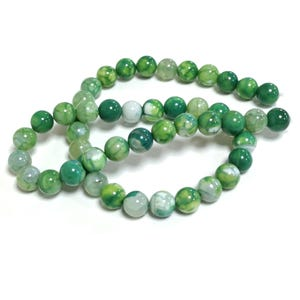 Green Fire Agate Grade A Plain Round Beads 8mm Strand Of 45+ Pieces CB74220-2
