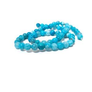 Blue Fire Agate Grade A Plain Round Beads 6mm Strand Of 60+ Pieces CB74221-1